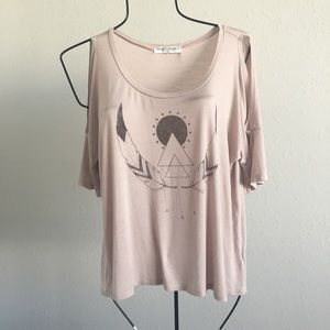 Urban outfitters cold shoulder T-shirt